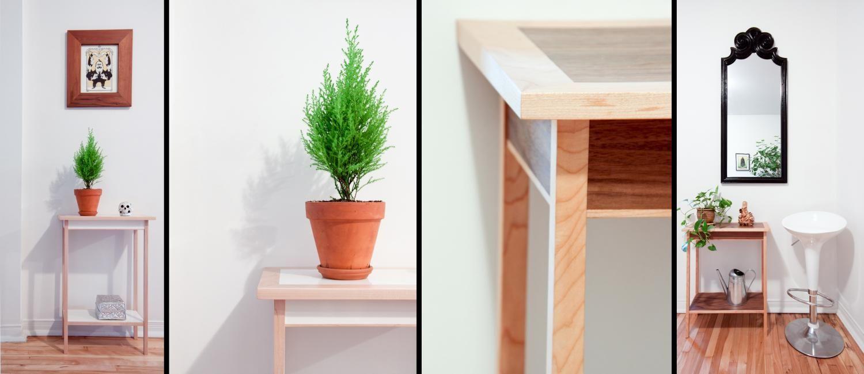 Table D Appoint En Wenge Et Zebrano Wenge And Zebarno Side Table Mobilier De Salon Mobilier Bois