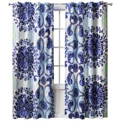 "bedroom drapes - Boho Boutique™ Haze Window Panel - 52x84"""