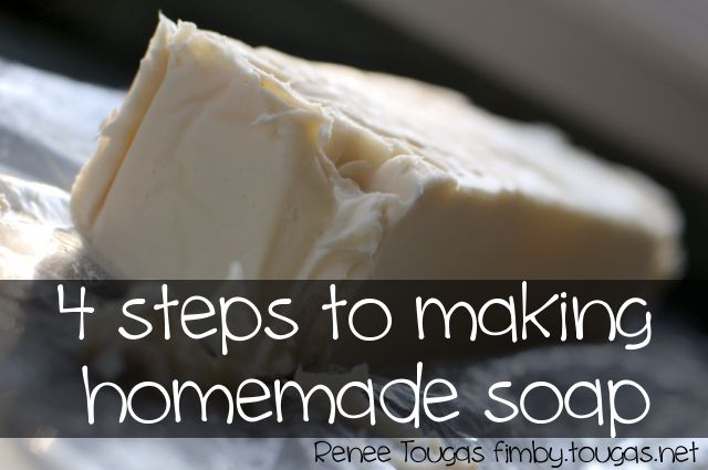 4 steps to making homemade soap