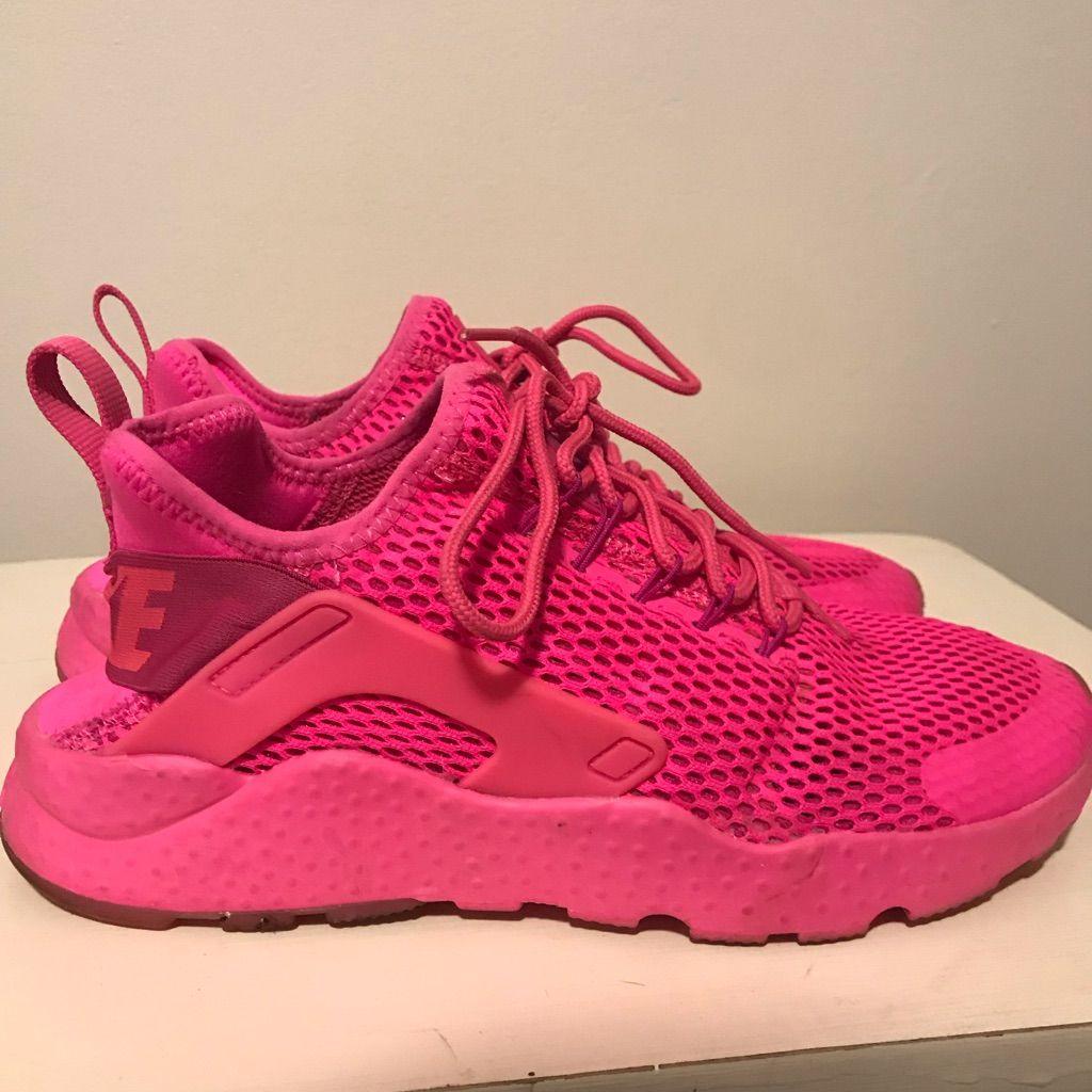 Hot pink shoes, Pink nikes, Nike huarache