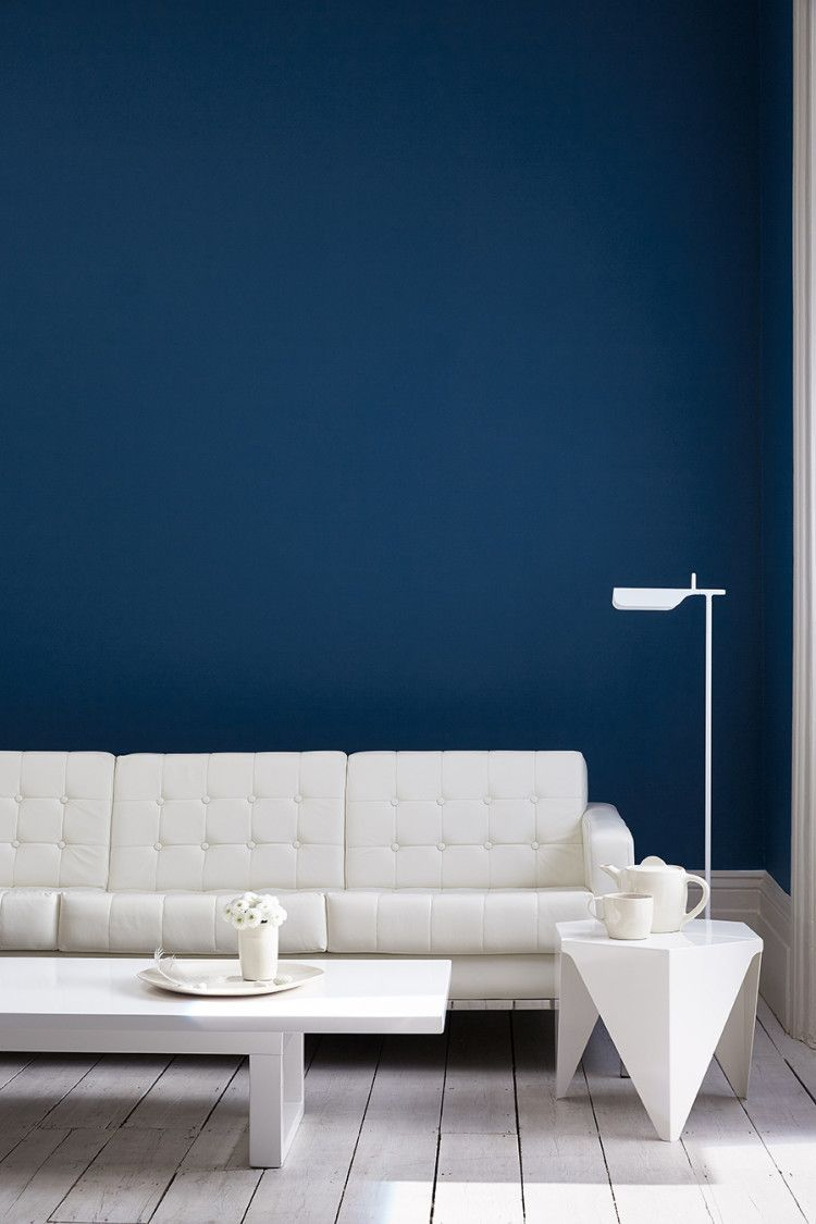The Blue Collection By Little Greene Mad About The House Royal Blue Walls Blue Living Room Blue Interior Blue colour wallpaper for living room