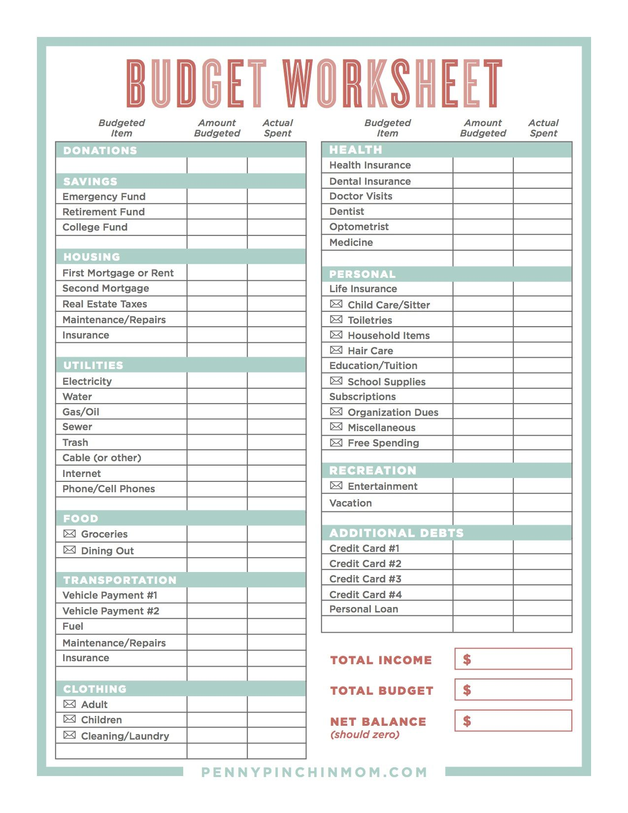 Worksheets Low Income Budget Worksheet the tricks for sticking to a budget budgeting 101 and budget