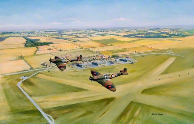 Donald Selway: Spitfires over Duxford: Reconstruction