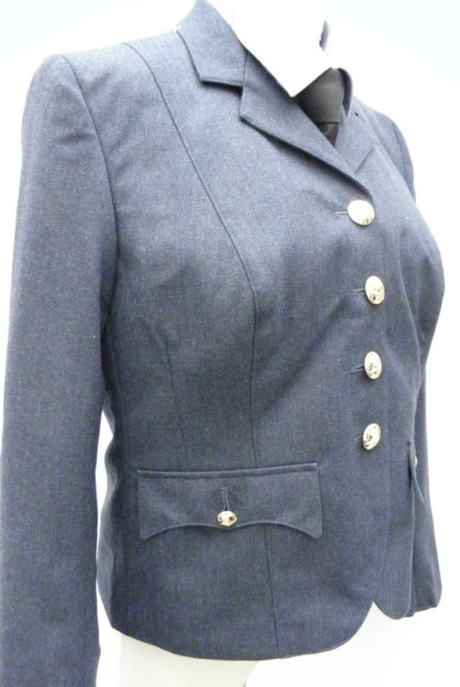VINTAGE OFFICERS  Womans WRAF No1 Uniform RAF royal Air force Jacket tunic  4-6