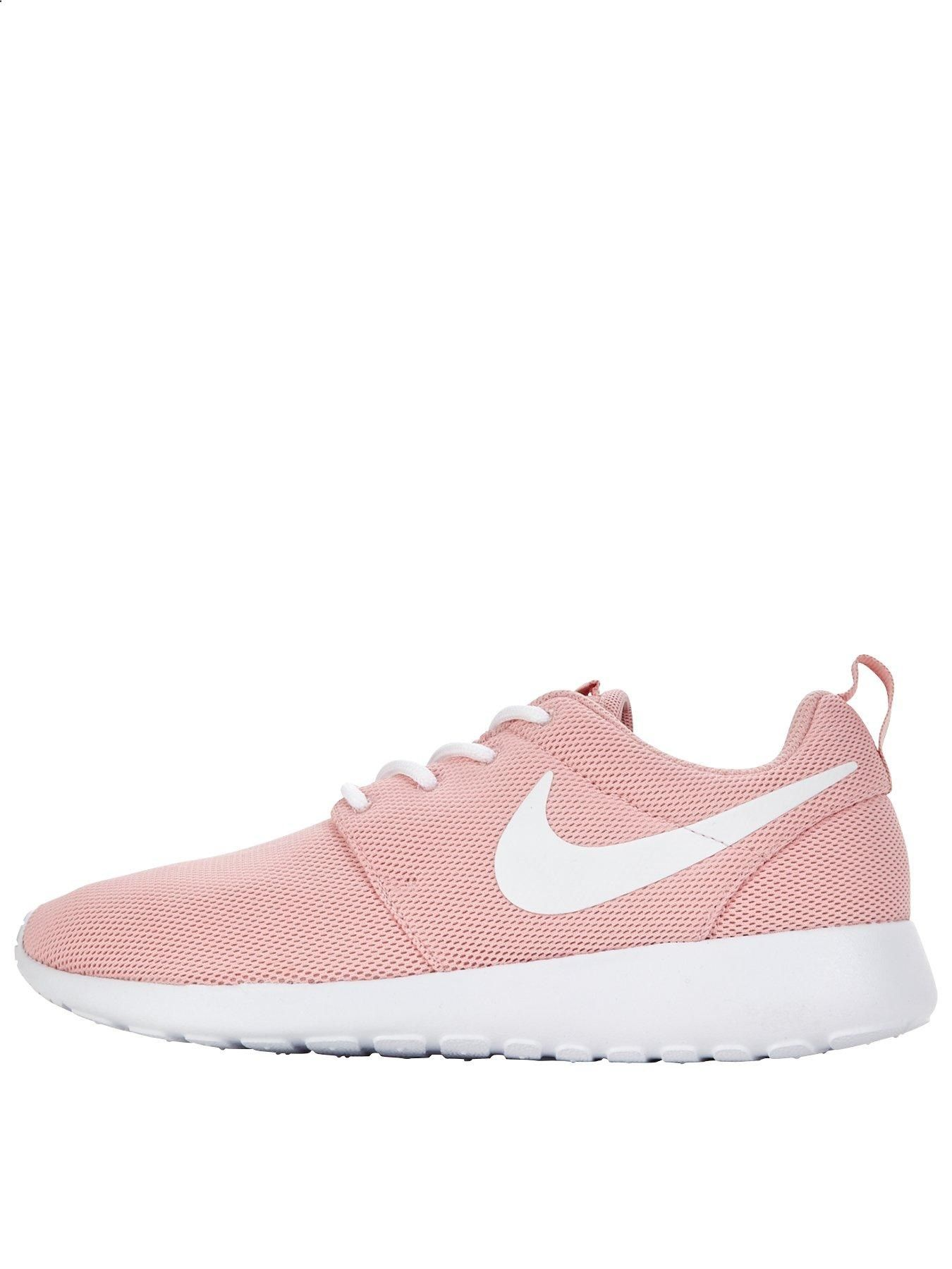 68e9780f15e70 Nike Roshe One - Pink White Treat your feet to the pretty pink hue and plush  cushioning of the Roshe One by Nike. Lightweight and breathable