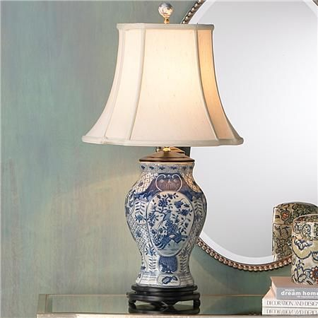 Classic blue and white porcelain vase lamp white porcelain classic blue and white porcelain vase lamp mozeypictures Gallery