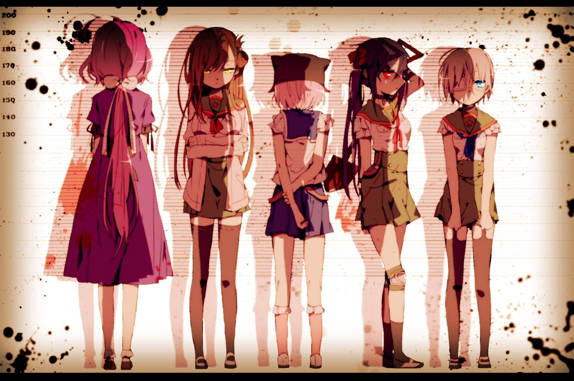 hintergrundbilder おしゃれまとめの人気アイデア pinterest animeislife がっこうぐらし アニメの女の子 冬木