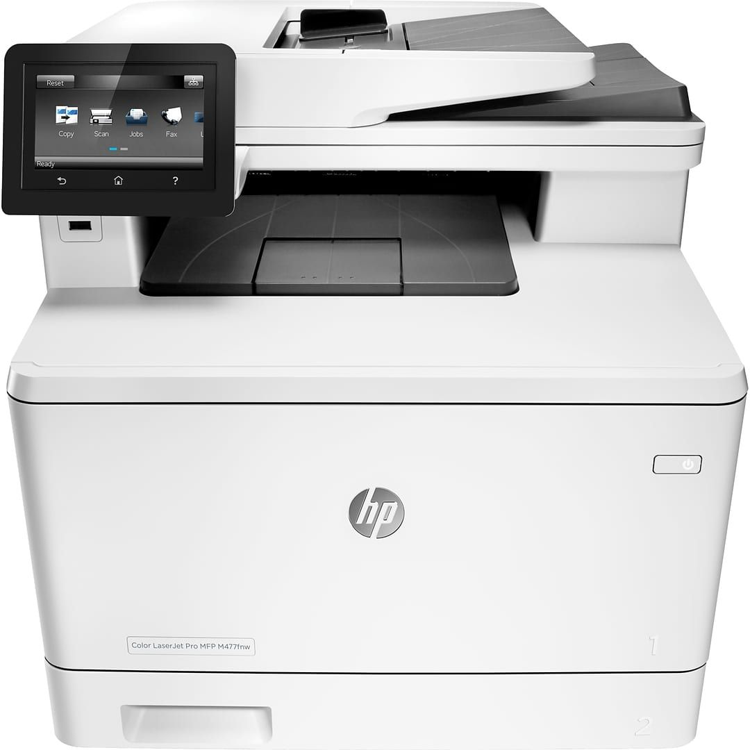 Hp Color Laserjet Pro Mfp M477fdw Printer Quill Com Home Office Decor Office Room Furniture Printer