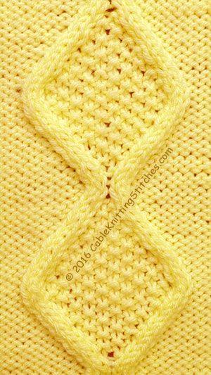 Cable Knitting Stitches Cable Panel 16 Moss Stitch Diamonds 22