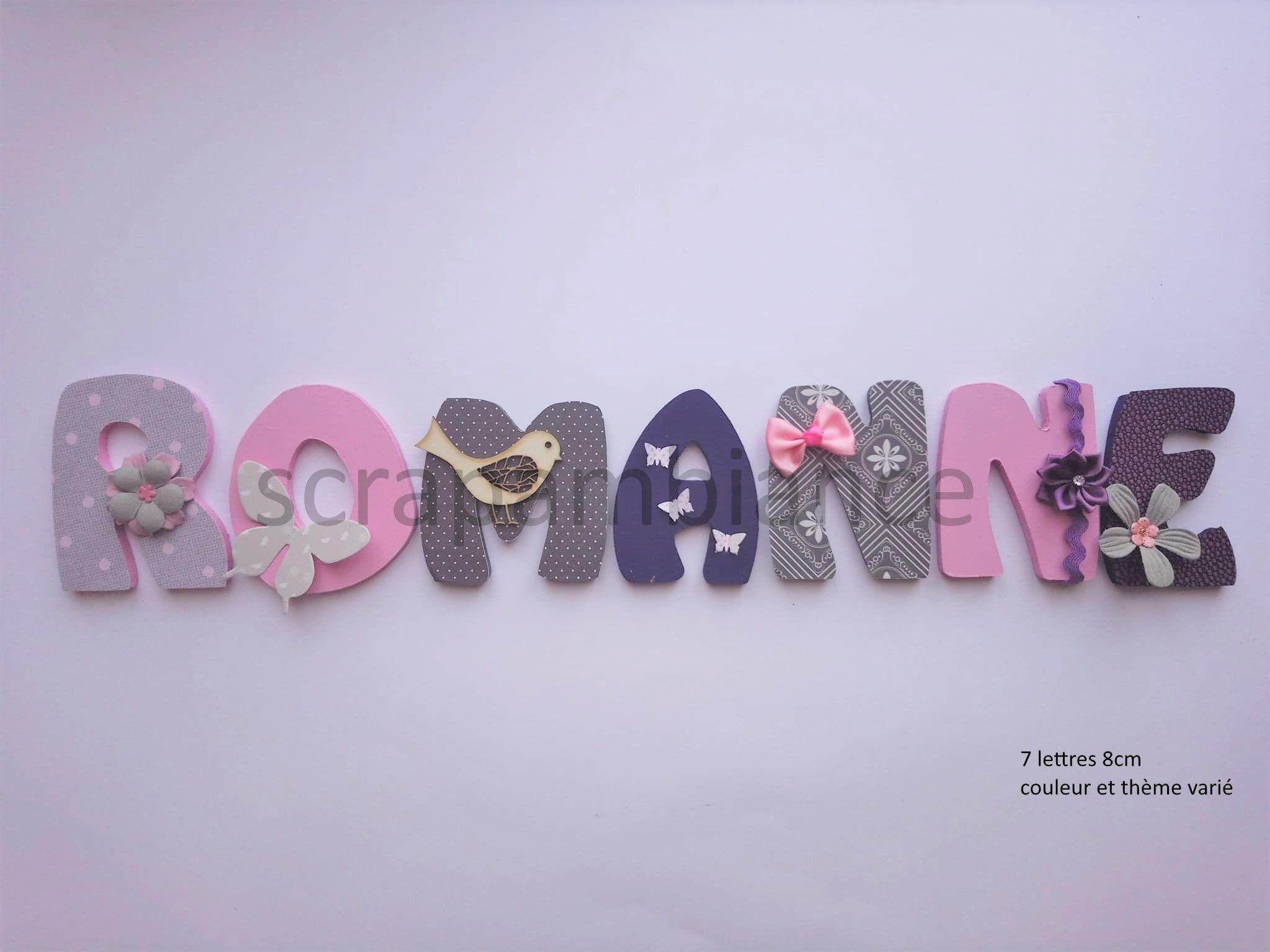lettre prénom bois /lettre chambre bébé / personnalisées / prénom