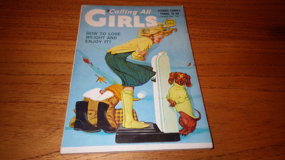 Calling All Girls March 1963 Lose Weight & Enjoy It cover 1960s vintage magazine