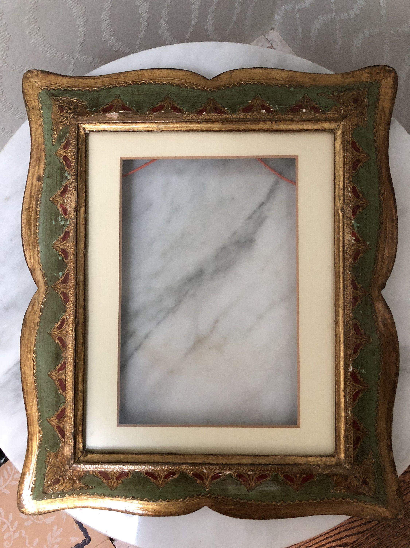 Florentine Italian Frame With Matte And Non Glare Glass Purple Iris
