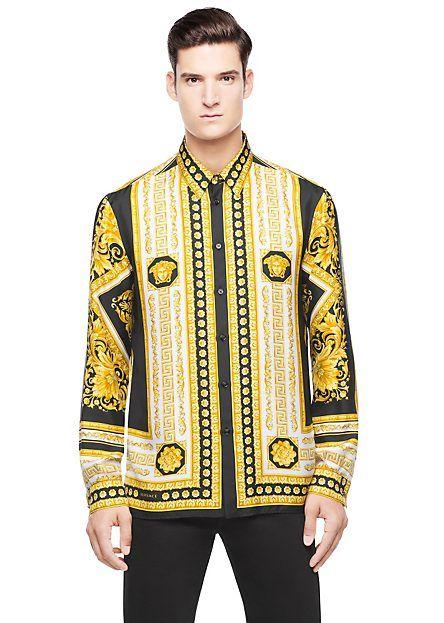 2548961fa06fdc Iconic Print Silk Shirt | Style for Man | Versace mens shirt ...