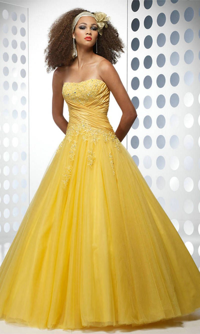 Yellow Ball Gown | Dress Lesson | gowns and dresses | Pinterest ...