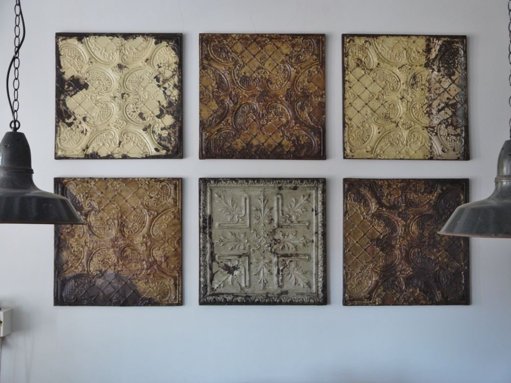 Old Pressed Tin Tiles Tin Ceiling Tile Wall Pressed Metal Panels Tin Ceiling