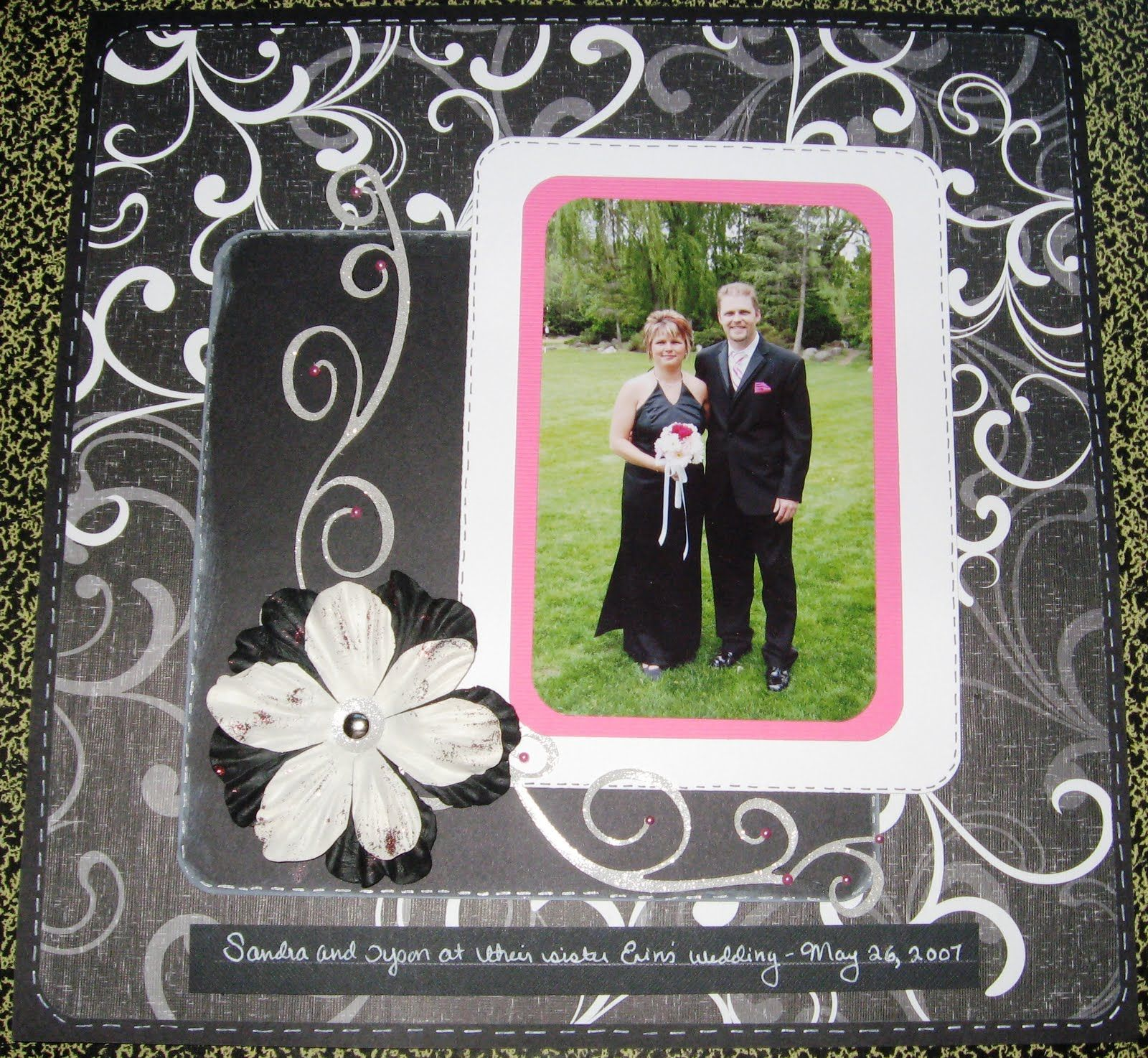 A SIMPLE WEDDING THEMED SCRAPBOOKING LAYOUT (With images