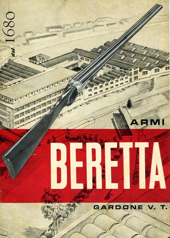 Beretta vintage poster 'since 1680' | vintage firearms | Guns