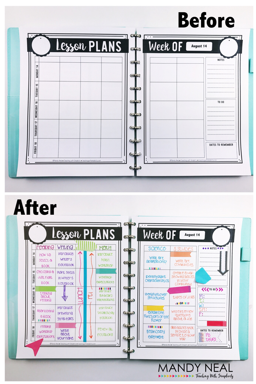 5 Tips to Take Your Teacher Binder from Drab to Fab - Mandy Neal