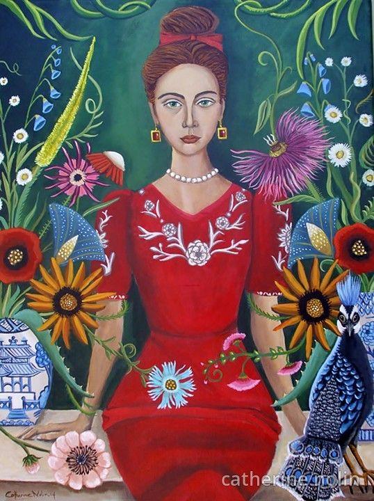 art, painting, catherine nolin, pagoda vase, interior, original painting…