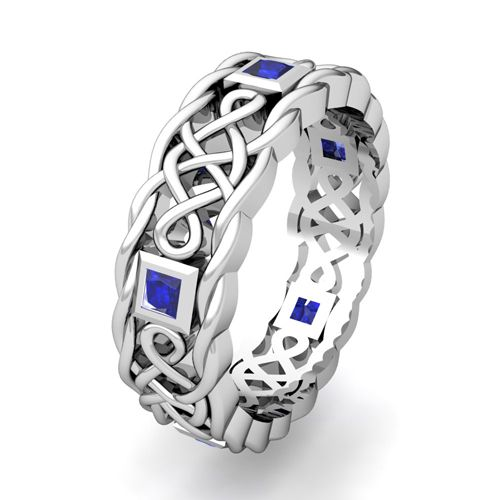 mens sapphire celtic wedding rings Google Search wedding things