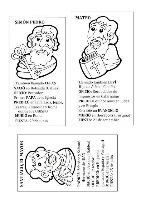 El Rincon De Las Melli Cartas Biograficas De Los Doce Apostoles