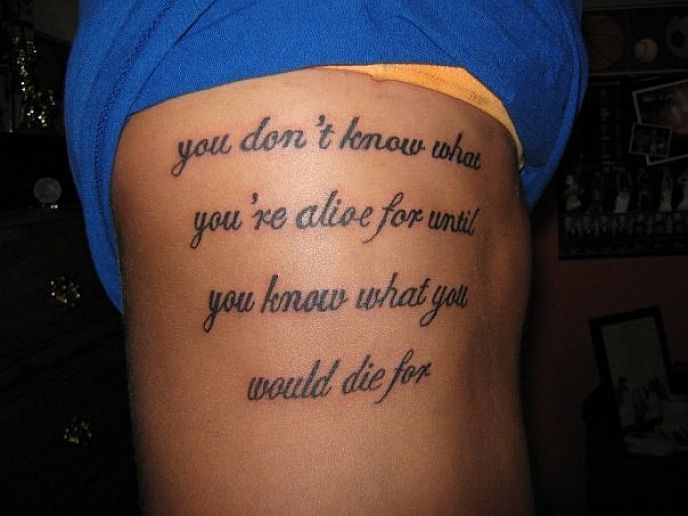 meaningful tattoos quote for men