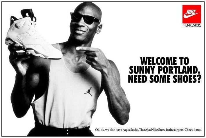 Contable Línea del sitio Preservativo  Valla publicitaria de las Nike Air Jordan 1991 | Nike ad, Michael jordan,  Jordans