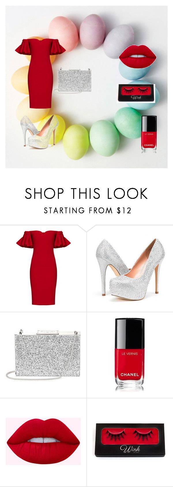 """""""Untitled #21"""" by dzans ❤ liked on Polyvore featuring Badgley Mischka, Aspinal of London and Chanel"""