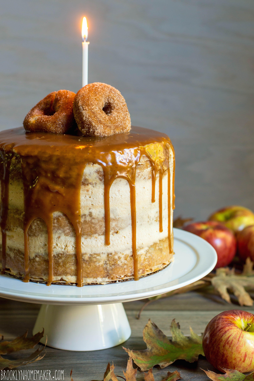 Apple Cider Doughnut Cake With Mascarpone Icing Cider Caramel