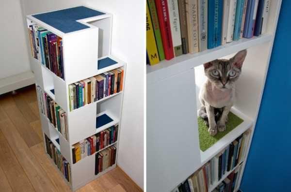 CatCase Cat Tree Design With Book Shelves DIY Modern Furniture