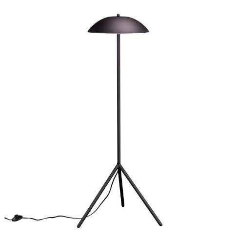 Lowry 2 Light Floor Lamp Matte Black Includes Energy Efficient Light Bulb Aiden Lane Target Led Floor Lamp