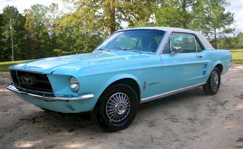 Frost Turquoise Blue 1967 Mustang Hardtop Ford Mustang 1967 Mustang 1967 Mustang