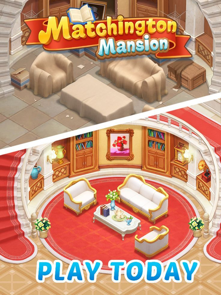 Decorate Your Mansion With A Match Makeover Puzzle Game Design - Mansion design games