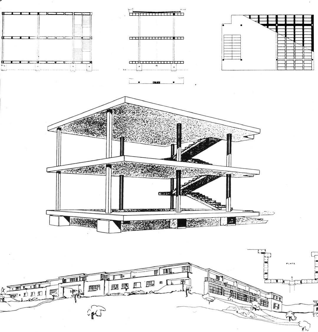 le corbusier maison domino 1914
