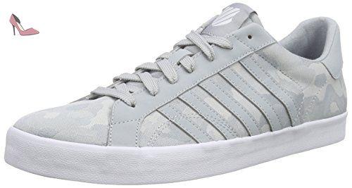 K-Swiss Belmont So, Sneakers Basses Femme, Blanc (White/Silver/Black), 42 EU