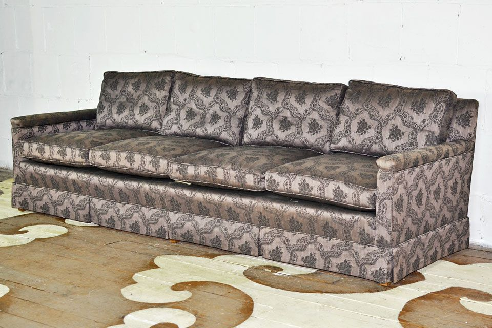 8 Foot Vintage Sofa By Quality Furniture Maker Erwin Lamberth We