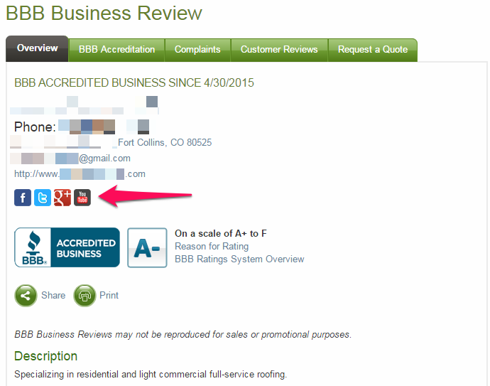Want to connect with a business on social media? Icons will appear on the #BBB Business Review if the company has provided us with links to their social media accounts.