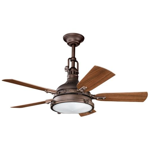 Kichler lighting kichler ceiling fan with light kit in weathered copper finish 310101wcp destination