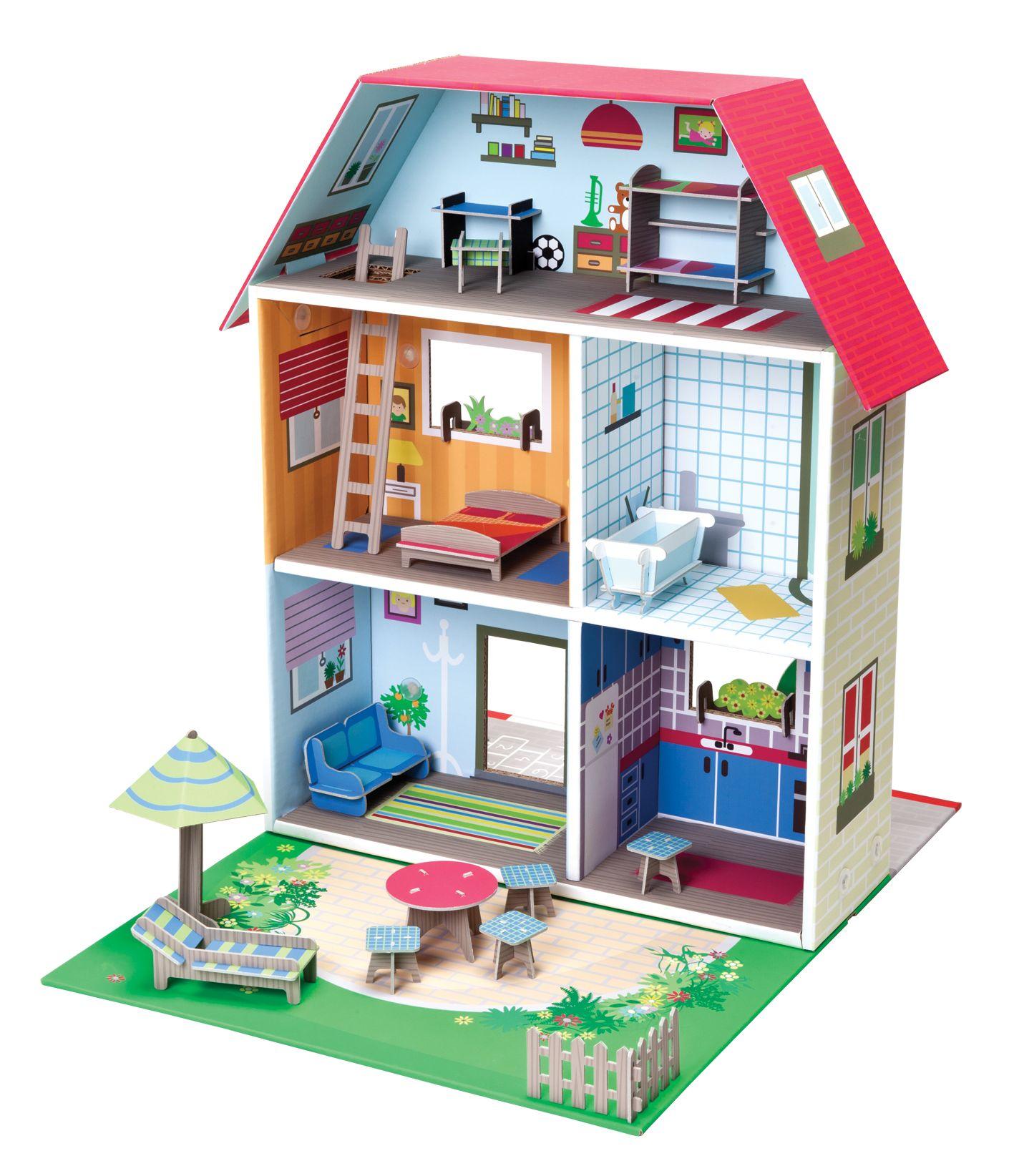 Casa de mu ecas murielle casa duendes china pinterest mu ecas Casas hechas de carton