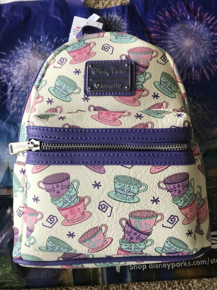 487f61485f9 NEW Disney Parks Loungefly Mini Backpack Tea Cups from Alice in Wonderland  Bag  Loungefly