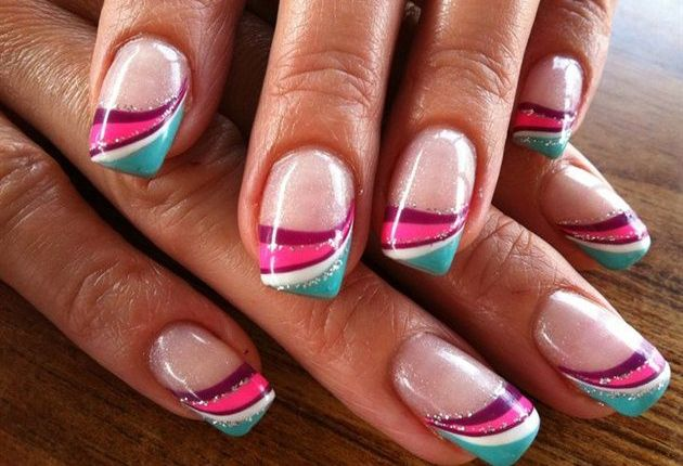 30 Best and Cute Multicolor Nail Art Designs 2015 #nailartdesigns2015  #multicolornails #naildesigns - 30 Best And Cute Multicolor Nail Art Designs 2015