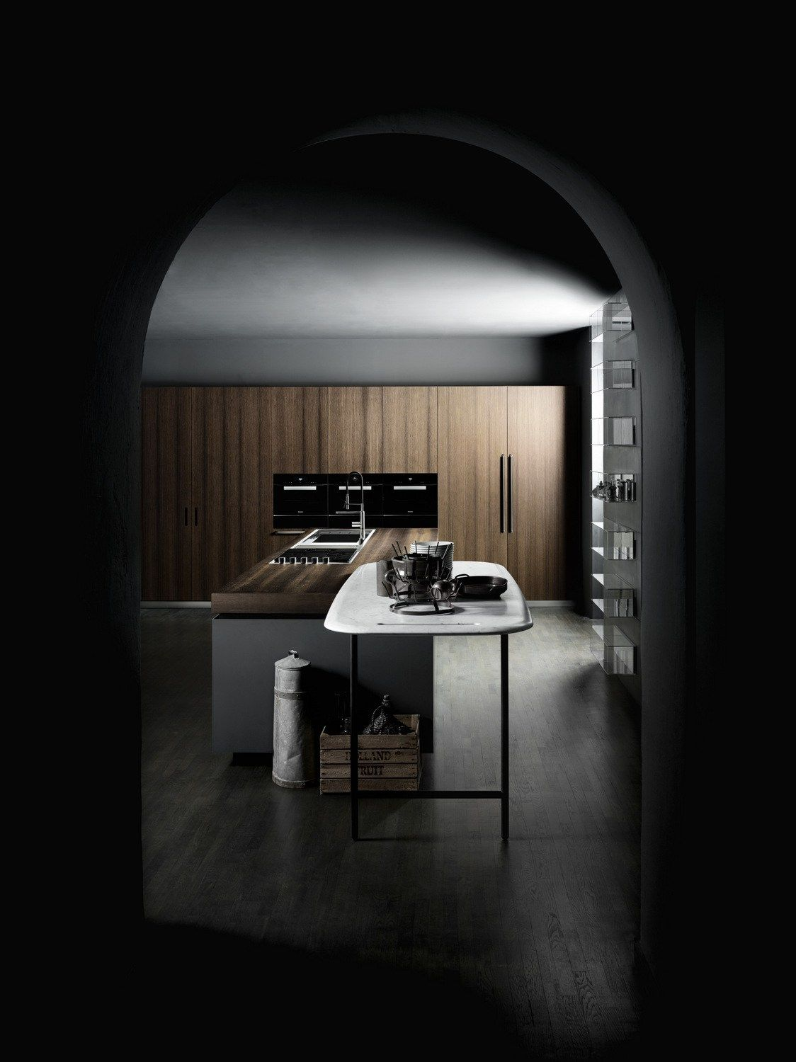 Fitted kitchen with island BOFFI_CODE KITCHEN by Boffi