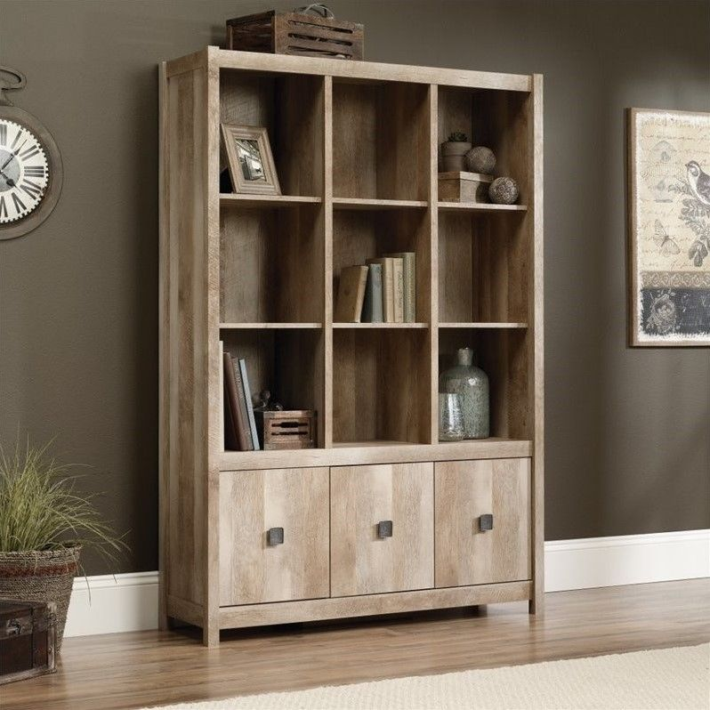 Sauder Cannery Bridge 9 Cubby Bookcase in Lintel Oak - 416091