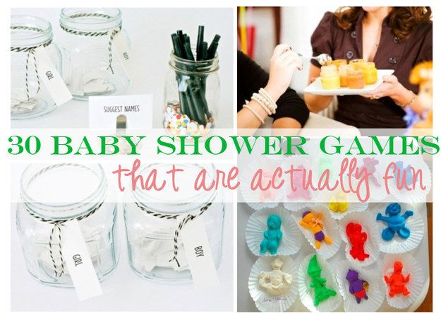 30 Baby Shower Games That Are Actually Fun Pinterest Baby Shower