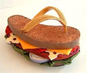 Burger flip flop | Burger Lovers Unite | Pinterest
