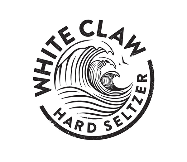 White Claw Raspberry Crescent Crown Print Stickers Temporary Tattoo Hard Seltzer