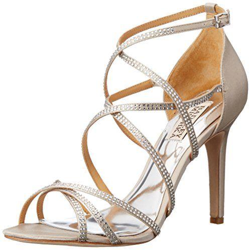 Womens Shoes Badgley Mischka Meghan Silver Satin