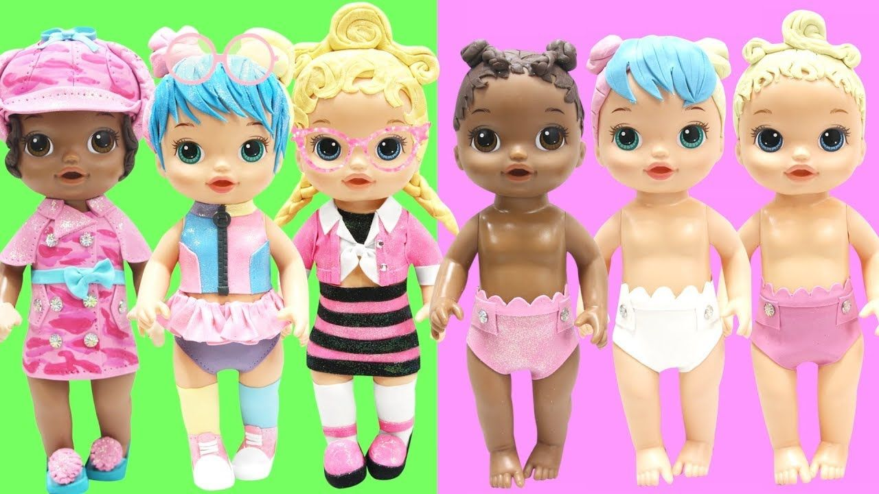 Play Doh Lol Surprise Bon Bon Pink Baby Agent 00l Lil Bon Bon Lil Pink Baby Lil Agent 00l Play Doh Baby Play Doh Baby Alive