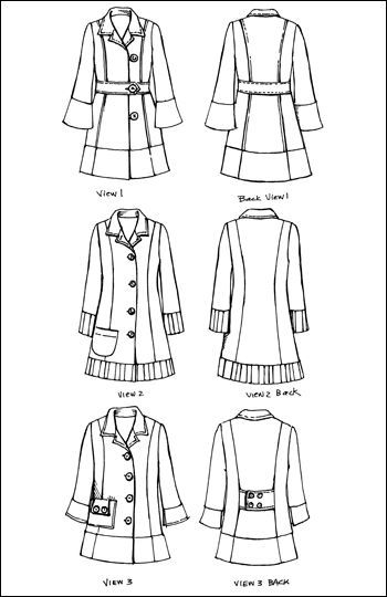 Garment Sewing Pattern Womans Trench Topper From Indygo