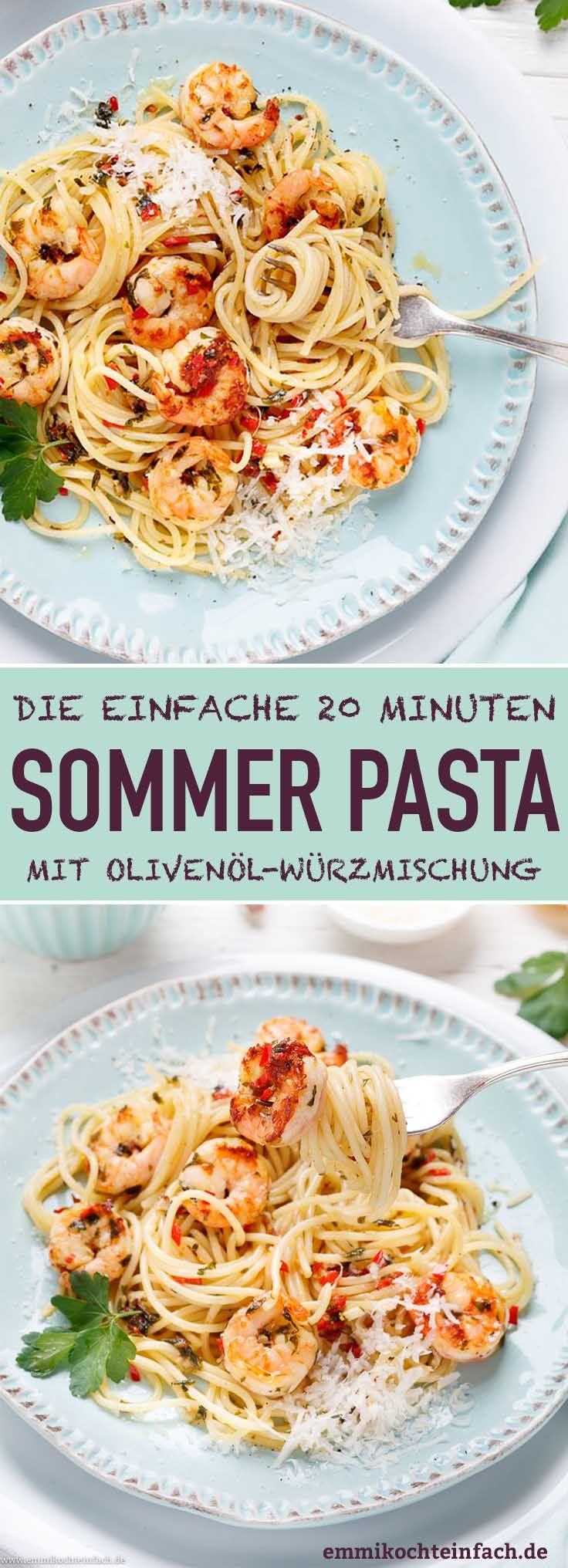 Schnelle Garnelen Pasta - in 20 Minuten auf den Tisch - emmikochteinfach